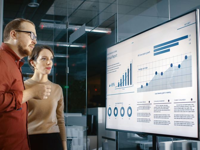 Power BI, Yammer og Sharepoint via Digital Signage